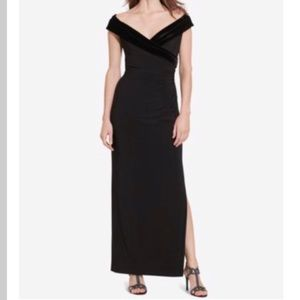 Lauren Ralph Lauren Sz.12 Column Gown Black